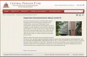 CPF Announcement about COVID 19