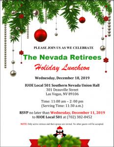 Invitation NV Retiree Holiday Luncheon 12.18.2019