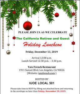 Invitation_CA Retiree Holiday Luncheon 12.13.2019